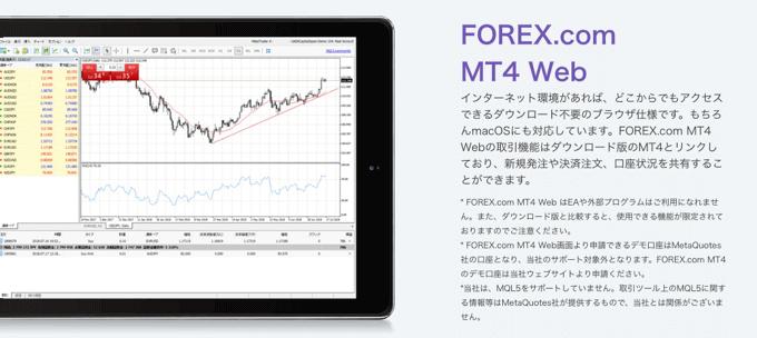 FOREX.comもウェブ版MT4に対応!面倒な設定は一切不要でMT4が使える!