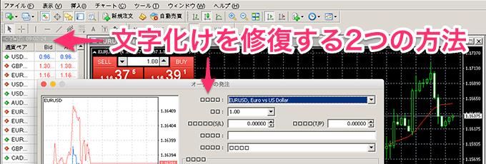 Mac対応XM MT4の日本語文字化け修復する2つの方法