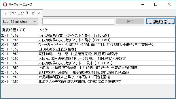 日本語のマーケット・ニュース