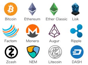コインチェックの仮想通貨