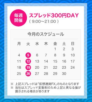 スプレッド300円DAY