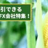 コーン(とうもろこし)のCFD取引ができる証券会社・FX業者特集!