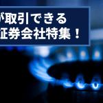 天然ガスが取引できる証券会社、FX業者特集!